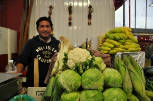 Mercado de Coyoacan 5 - produce vendor Jim