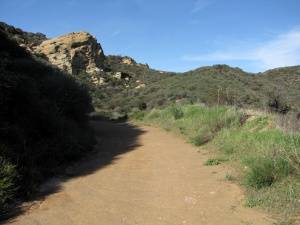 Eagle Springs Fire Road 2 - view of Eagle Rock