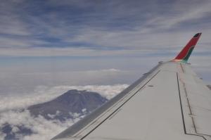 Kenya Airlines NBO-ZNZ 2 - Kili view