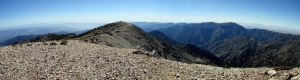 Mt. Baldy hike panorama stitch - August 2011