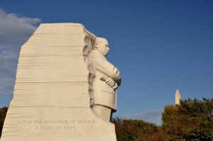 MLK Memorial and Washington Monument