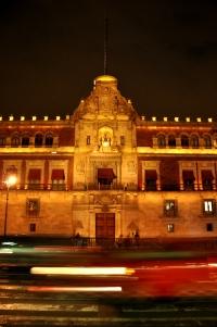 Palacio Nacional at night 2