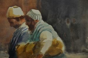 Museo Nacional de la Acuarela 34 - Moroccan Market - by Robert Wade of Australia