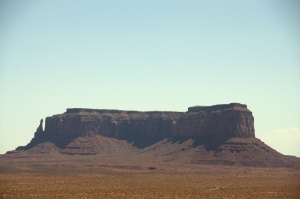 Goulding's Trading Post and Museum 1 - view of Sentinel Mesa